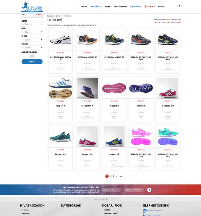 Vivaldisport.hu reszponzív sport webáruház készítés  539b1e7115