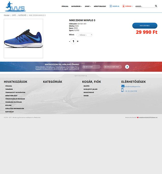 Vivaldisport.hu reszponzív sport webáruház készítés  35c65bdb41