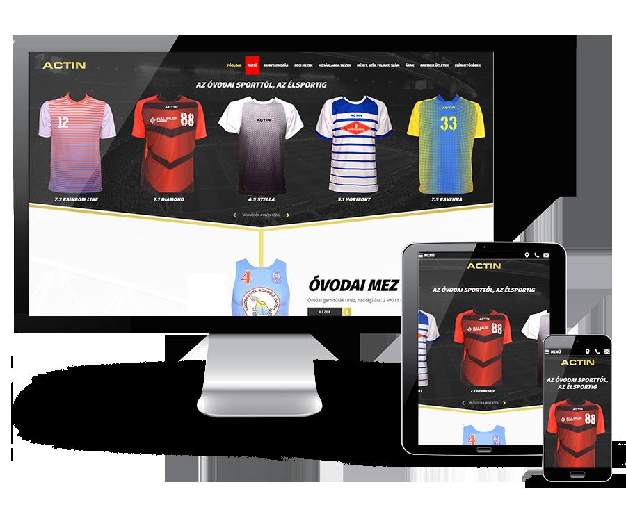 Actinsportmezek.hu - foci, kosár, kézi és röplabda gyerek és felnőtt mezek bemutatkozó oldala