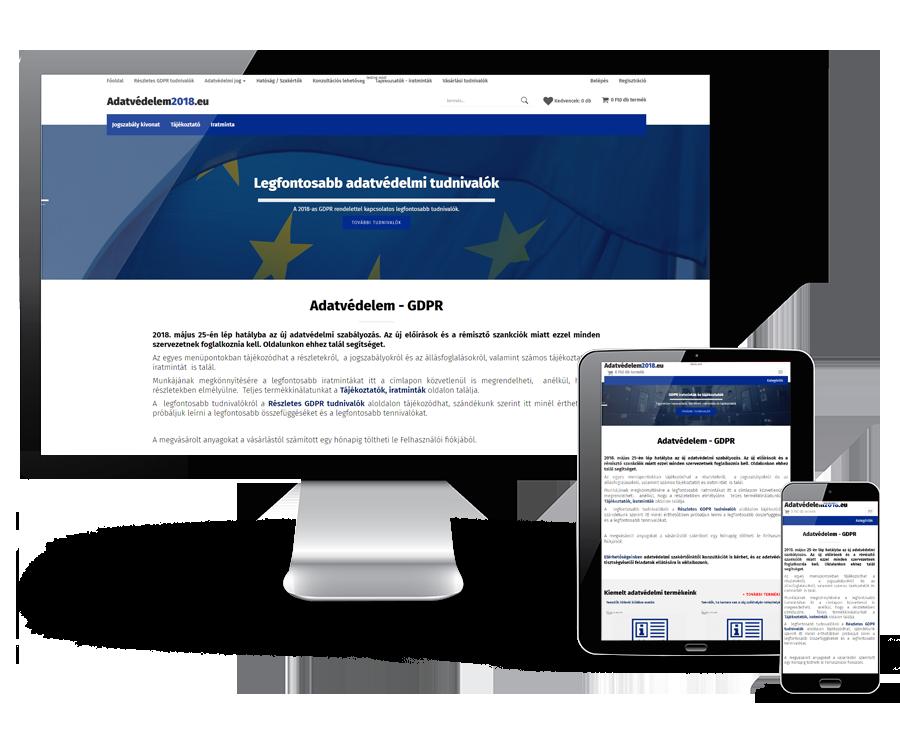 Adatvedelem2018.eu - Segítséget nyújtó reszponzív webáruház a 2018-as adatvédelmi változásokkal kapcsolatban