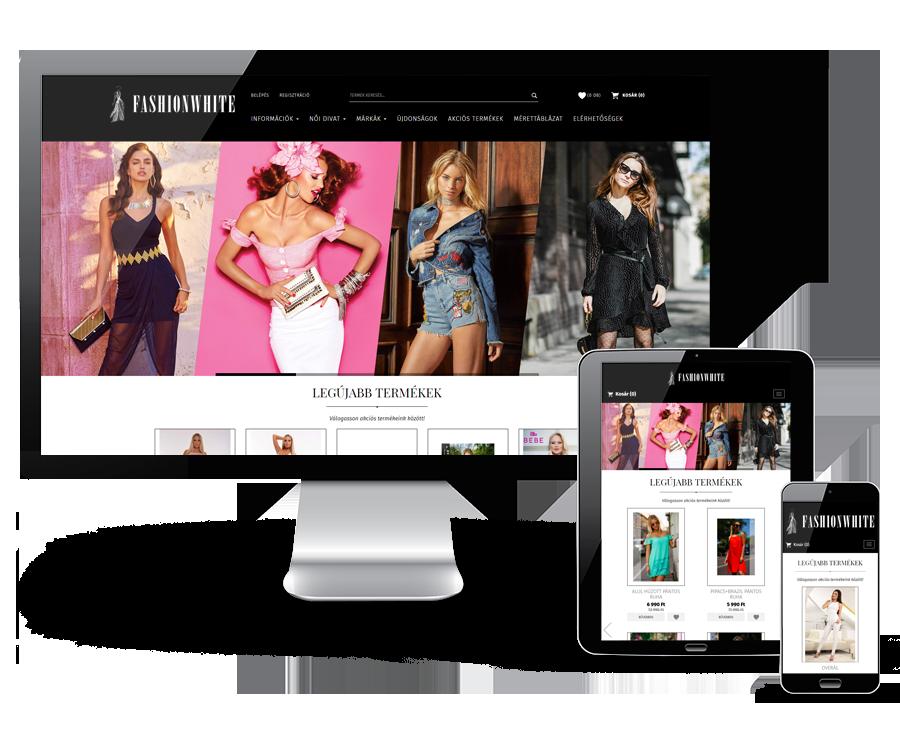 Fashionwhite.hu - női divatos ruhák és kiegészítők reszponzív webáruháza