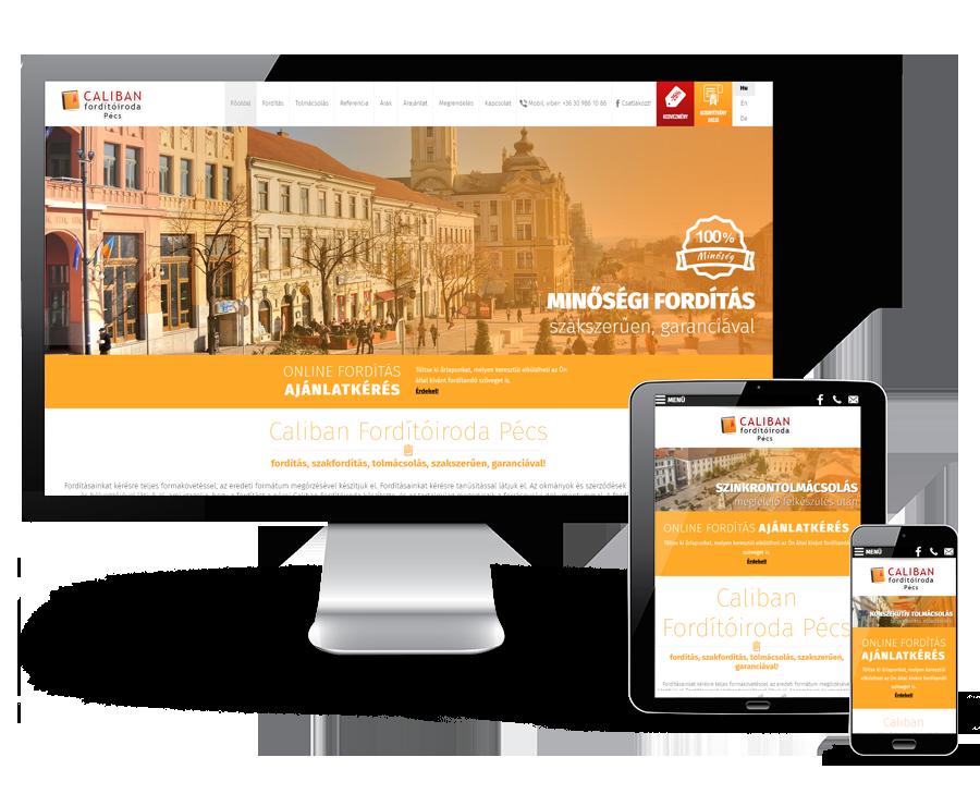 Forditoirodapecs.hu - weboldal megújítás, reszponzív weboldal készítés