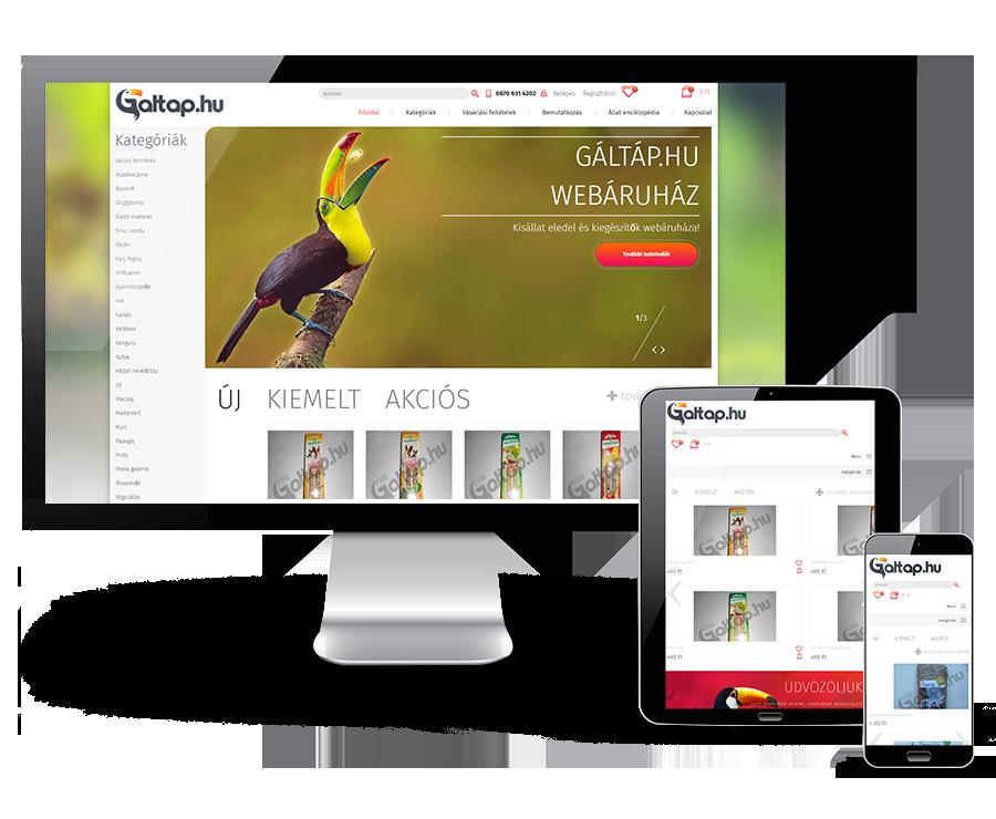 Galtap.hu kisállat eledel és kiegészítőinek webáruháza