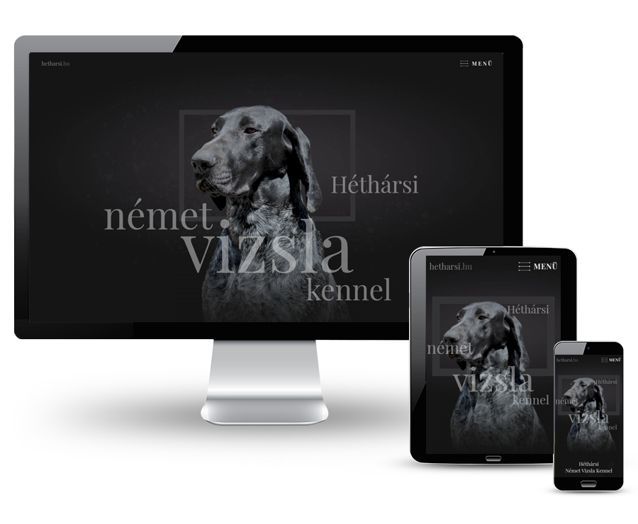 Hetharsi.hu - Héthársi Német Vizsla Kennel - reszponzív honlapkészítés