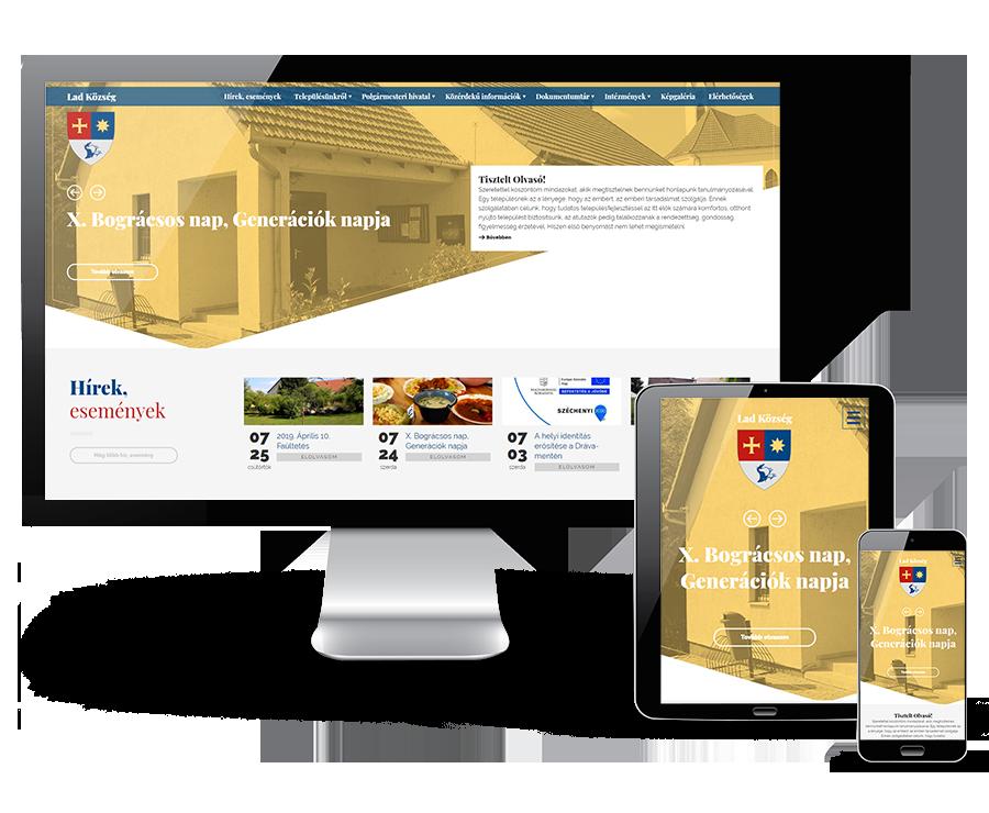Lad.hu - Lad Község - reszponzív honlapkészítés