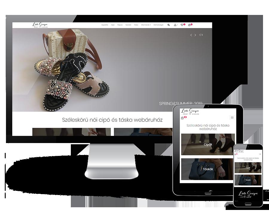 Lietoscarpe.hu - cipő, táska reszponzív webáruház készítés