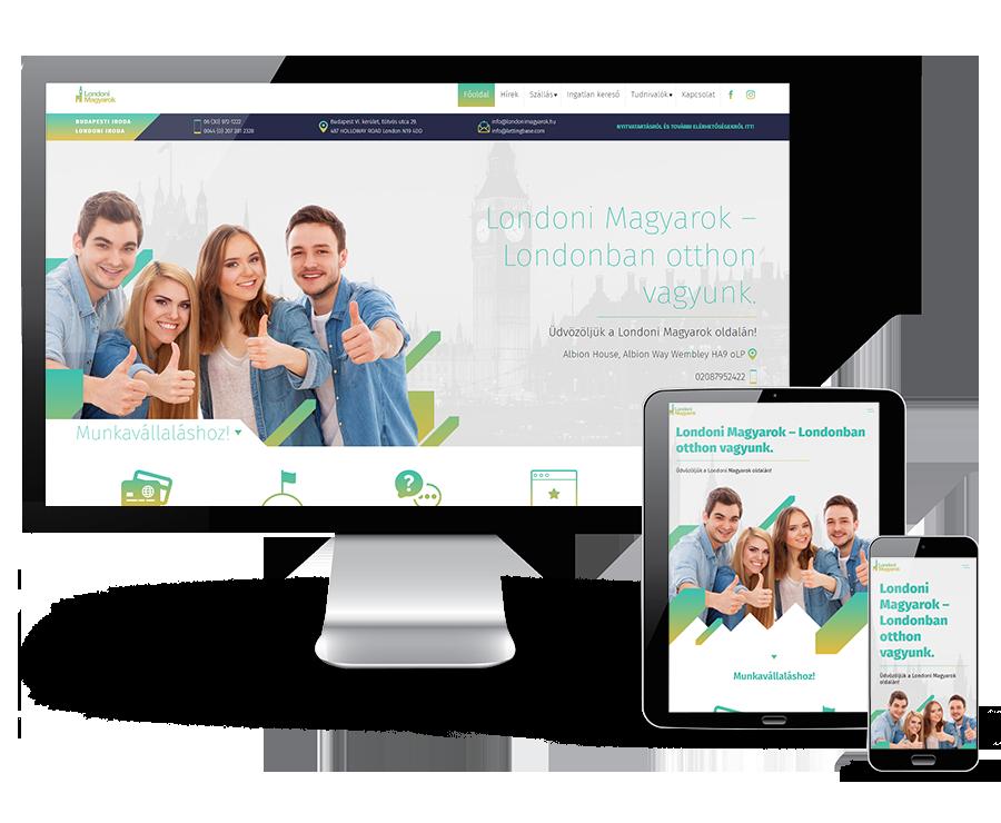Londonimagyarok.hu - Londonban élő magyarokat segítő mobilbarát weboldalkészítés