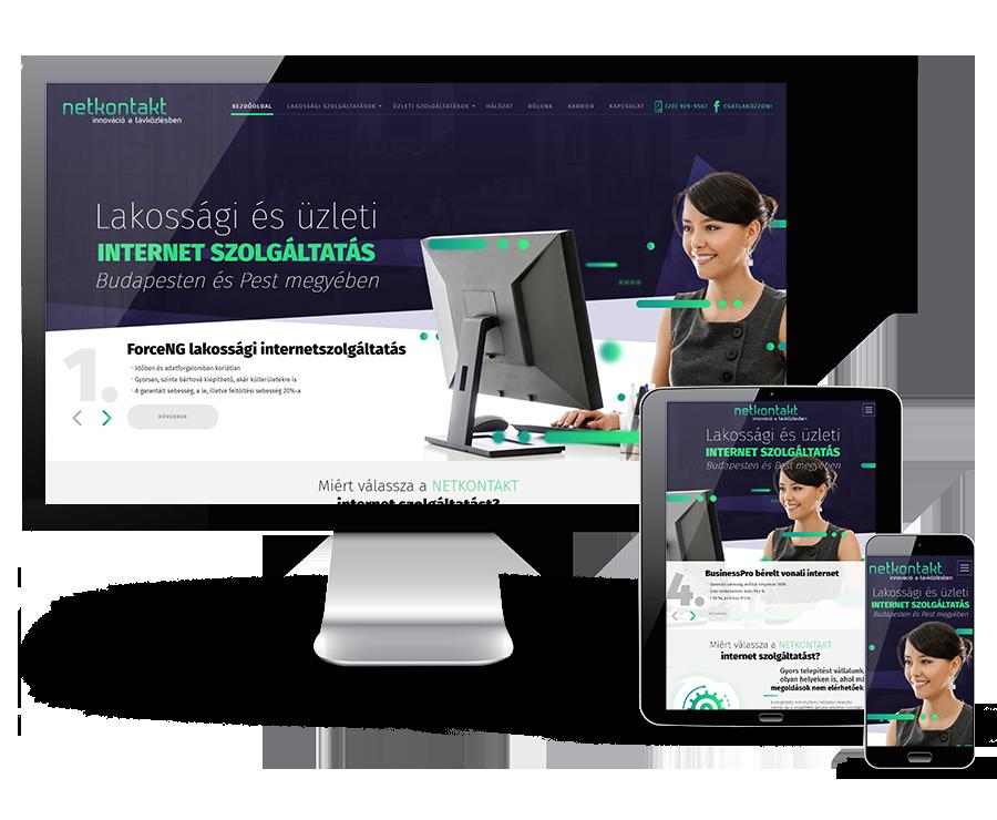 Netkontakt.hu Lakossági és üzleti internetszolgáltató reszponzív honlapkészítés