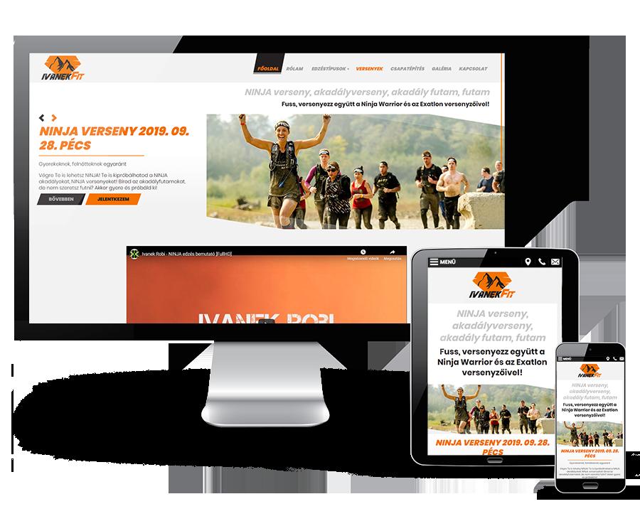 Ninjaakadalyverseny.hu - Ninja Warrior, Exatlon akadályversenyek, személyi edzés - reszponzív honlapkészítés