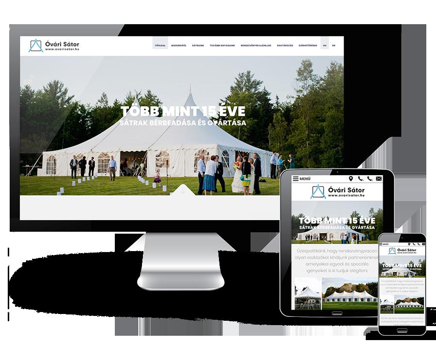 Ovarisator.hu - sátrak bérbeadása és gyártása - reszponzív honlapkészítés