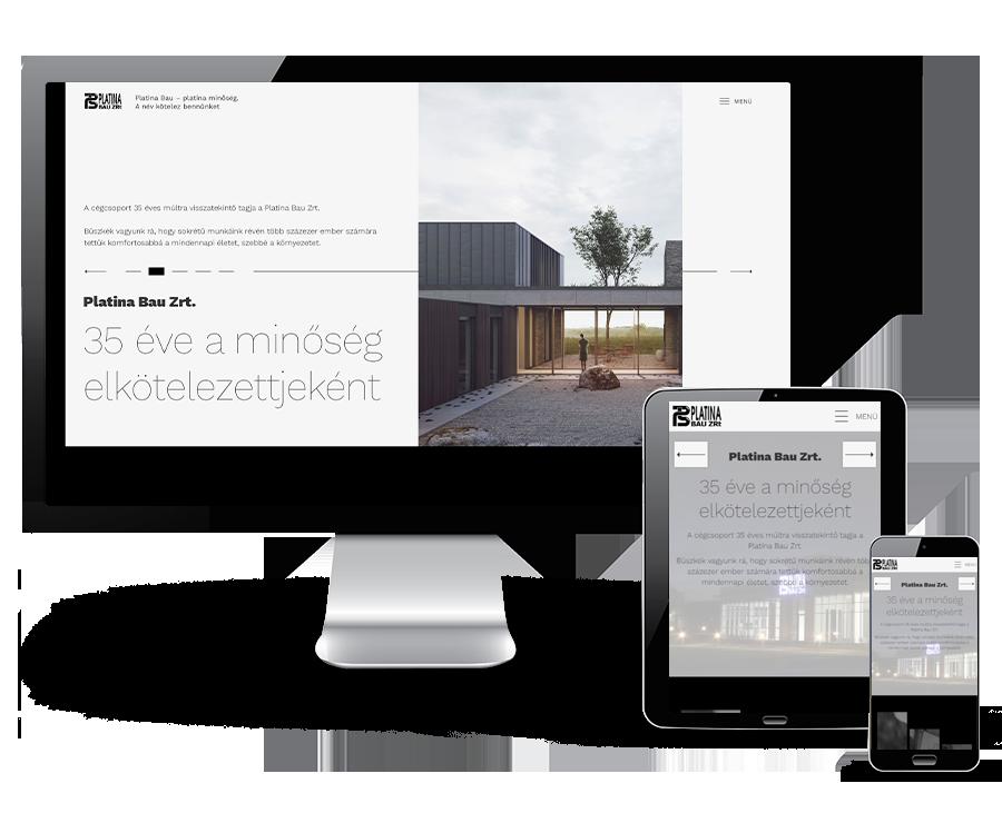 Platinabau.hu - Útépítés, térburkolás, magas- és mélyépítés - Reszponzív honlapkészítés