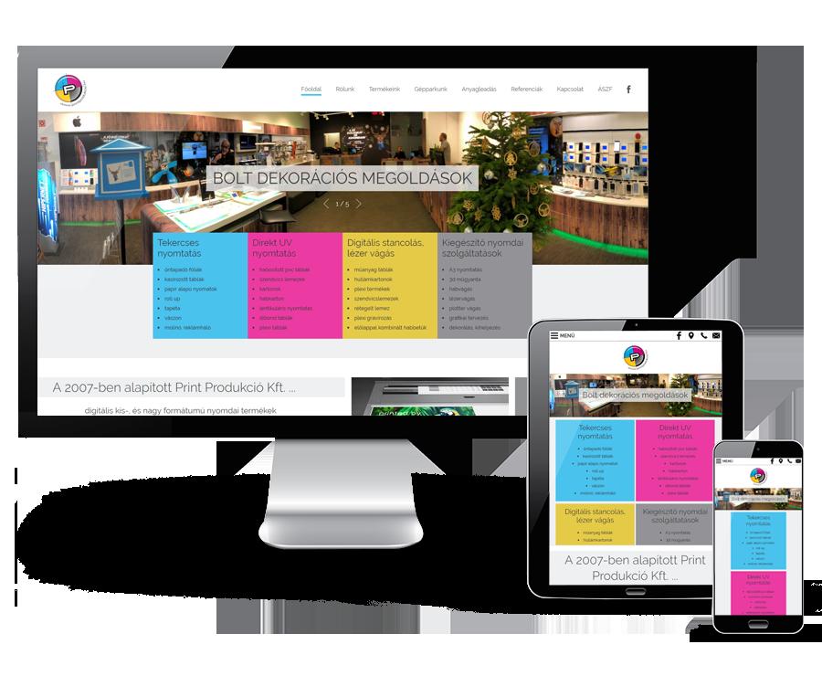 Printprodukcio.hu - Nyomdai termékek - reszponzív honlapkészítés