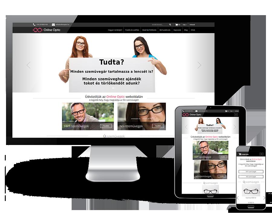 Onlineoptic.hu webshop készítés