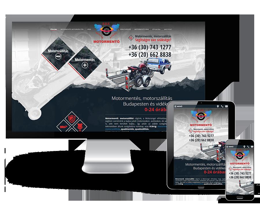 Motorangel.hu reszponzív bemutatkozó honlap készítés