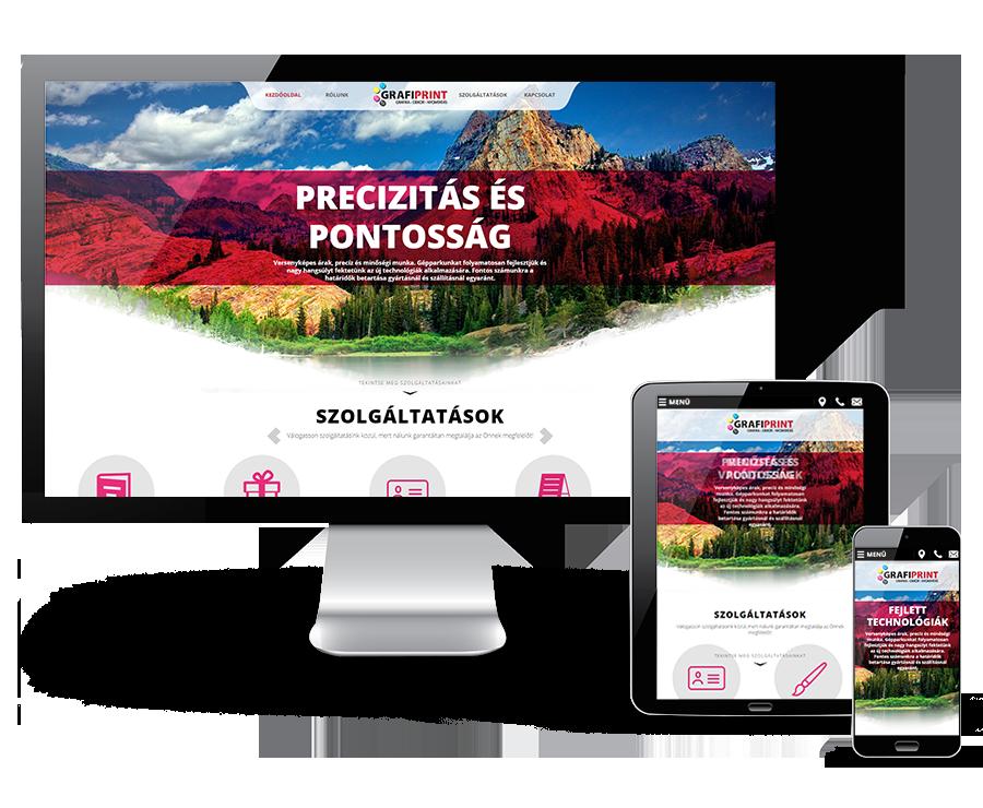 Grafiprint.hu reszponzív bemutatkozó weboldal készítése