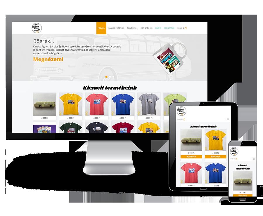 Volanshop.hu webáruház készítése