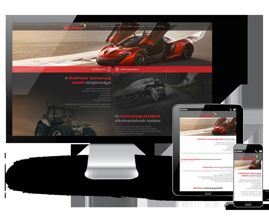 Maxpower300.hu reszponzív weboldal készítése
