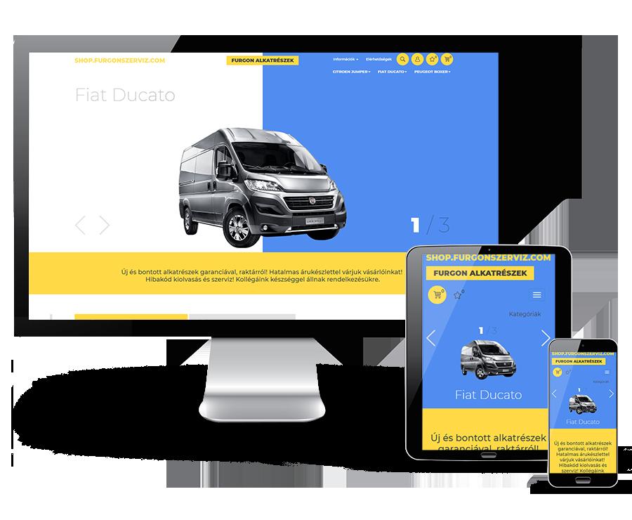Shop.furgonszerviz.com - Furgon alkatrészek - Reszponzív webáruház készítés