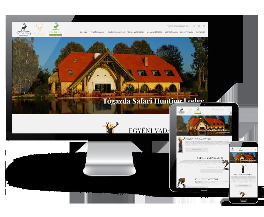 Togazdasafari.hu - vadásztársaság és vadászatszervező reszponzív weboldal készítése