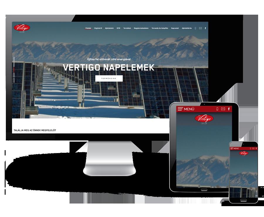 Vertigonapelem.hu - Vertigo Group Napelemek - reszponzív honlapkészítés