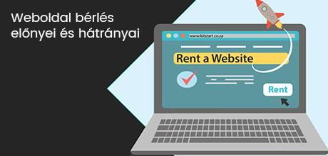 A weboldal bérlés előnyei és hátrányai