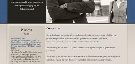advocaatinhongarije.com weboldal elkészítése