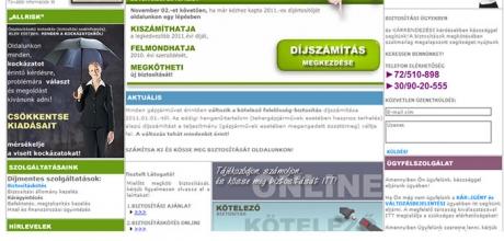 allrisk.hu weboldal programozása
