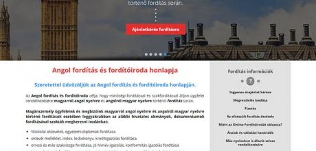 Angolforditasesforditoiroda.hu fordítással foglalkozó multi site oldal készítése
