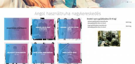 Angolhasznaltruhanagyker.hu - angol bálás használt ruha nagykereskedés reszponzív honlapjának elkészítése