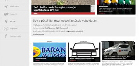 Autos.hu - autósok információs reszponzív weboldalának elkészítése