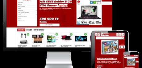 Bcac.hu - Számítástechnikai és műszaki cikk kereskedés - reszponzív webáruház készítés