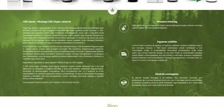 Cbdisland.eu - CBD-olaj, magok, palánták - reszponzív webáruház készítés