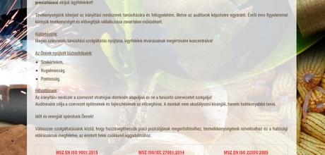 CERT Tanusító Zrt. bemutatkozó weboldalának készítése