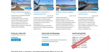 centralwake.hu reszponzív weboldal készítése