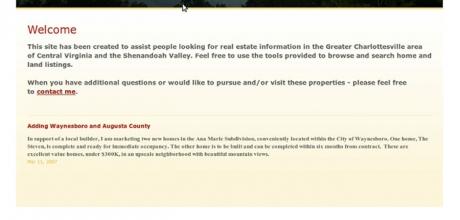 Dan Corbin Real Estate Agent XHTML és CSS tervezés