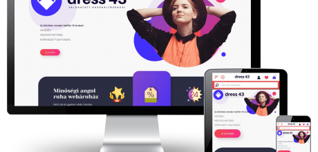 Dress43.hu - Válogatott használt ruházat - reszponzív webáruház készítés