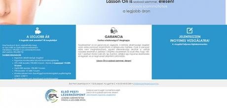 Elsopestilezerkozpont.hu reszponzív weboldalának elkészítése