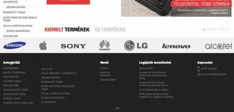 Esztigsm.hu GSM tartozékok reszponzív webáruház készítés