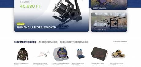 Febo.hu - horgászbolt webáruház - reszponzív webáruház készítés