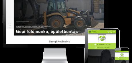 Funiokontener.hu - Konténer, sitt szállítás, gépi földmunka - reszponzív honlapkészítés