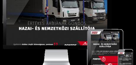 Gazdatrans.hu - szállítmányozás - reszponzív honlapkészítés