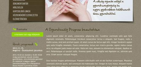 gyerekesely-delzselic.hu weboldal elkészítése
