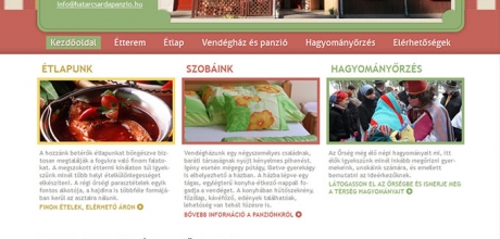 hatarcsardapanzio.hu weboldal