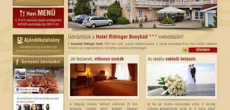 Hotelrittinger.hu weboldalának megújítása