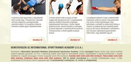 International Sporttrainer Academy kétnyelvű weboldalának elkészítése