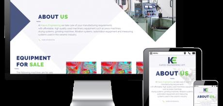 Kaposengineering.hu - Ipari kerámia gyártáshoz kapcsolódó gépek kereskedelme - reszponzív honlapkészítés