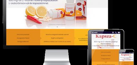 Kapsza-c.hu - 800 mg-os C-vitamin növényi kapszulában - reszponzív honlapkészítés