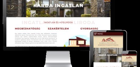 Kardaingatlan.hu - Karda Ingatlan és Hiteliroda - reszponzív honlapkészítés