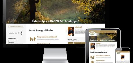 Kaszort.hu - erdőgazdaság, vadászház, kisvasút, vadászat - reszponzív honlapkészítés
