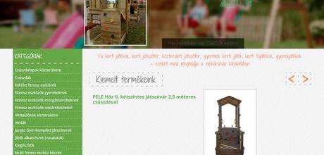 Kertijáték.com termékbemutató reszponzív webáruház készítés